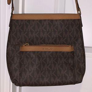 NWT Michael Kors brown and tan crossbody purse